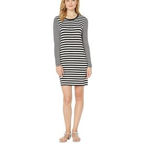 M Michael Kors Striped Long Sleeve Dress XL D1230